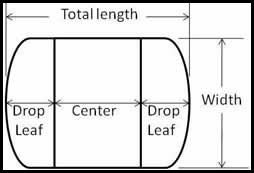 Drop leaf table diagram
