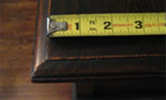 Measuring Instructions Table Pad Store